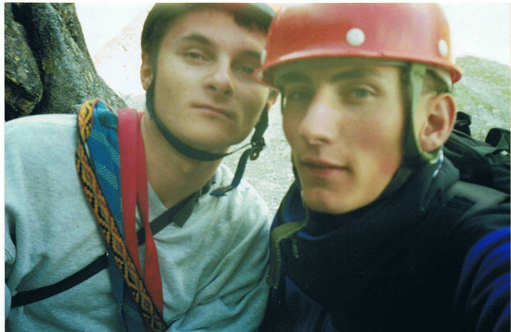 Pierwsza droga w Alpach Aig de L'M 2000r.