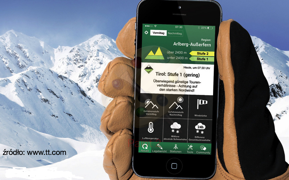 Lawinowe aplikacje mobilne – praktyczny gadżet